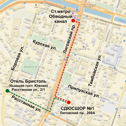 Дорога на семинар айкидо в Санкт-Петербурге